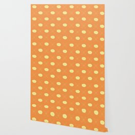 Floral pattern - orange and yellow Wallpaper