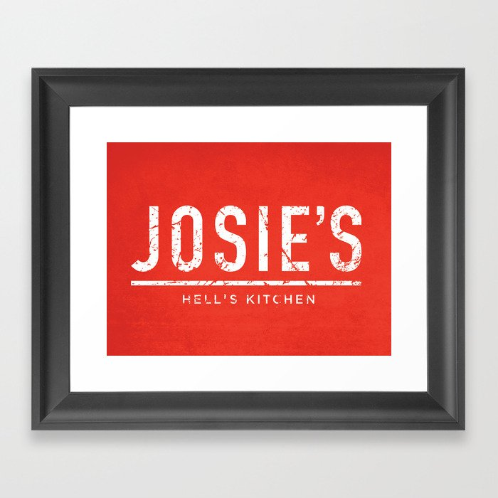 Josieu0027s Bar of Hellu0027s Kitchen Framed Art Print  sc 1 st  Society6 & Josieu0027s Bar of Hellu0027s Kitchen Framed Art Print by milofirewater ...