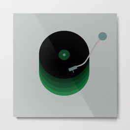 Green Vinyl Metal Print