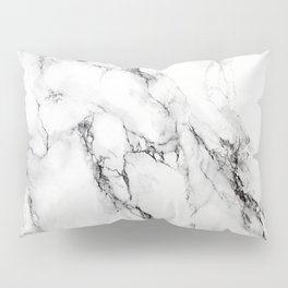 White Marble Texture Pillow Sham