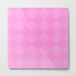 Pink Diamonds Metal Print