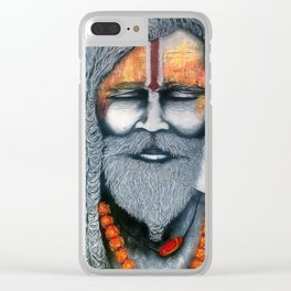 Holy Man Clear iPhone Case