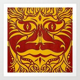kundoroh gold gallery mandala Art Print
