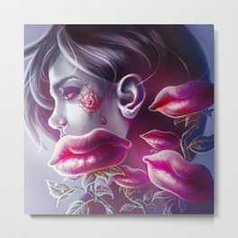 Lip Bouquet Metal Print
