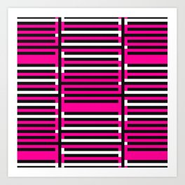 Licorice Bytes, No.6 in Black and Pink Art Print