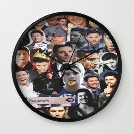 Jensen Ackles collage Wall Clock
