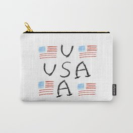 Flag of Usa 6- america,us,united states,american,spangled,star and strips Carry-All Pouch