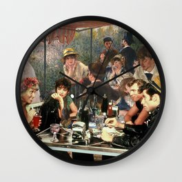Renoir's Luncheon of the Boating Party & Grease Wall Clock