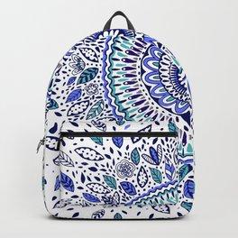 Indigo Flowered Mandala Backpack