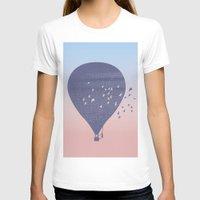 hot air balloon T-shirts featuring Hot Air Balloon (P) by HeyAle!