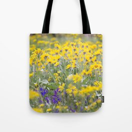 Meadow Gold - Wildflowers in a Mountain Meadow Tote Bag