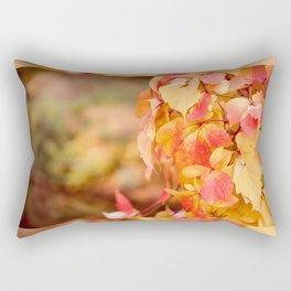 vine red yellow leaves abstract Rectangular Pillow