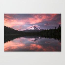 Mt Hood Sunset 6-20-18 Canvas Print