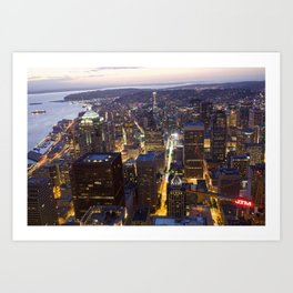 Seattle Skyline (Inner City) Art Print