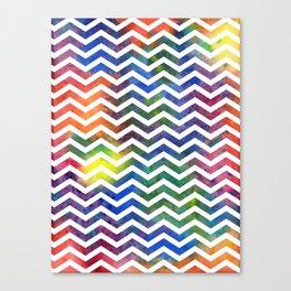 Rainbow Chevron Canvas Print