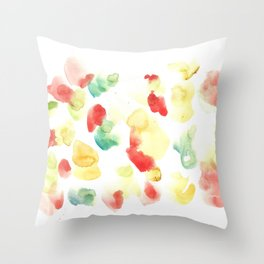 170722 Colour Loving 24 |Modern Watercolor Art | Abstract Watercolors Throw Pillow
