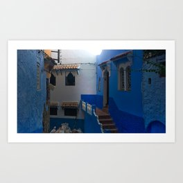 The Blue Streets in Chefchaouen Art Print
