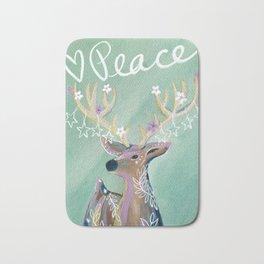 Peace - Holiday starry deer Bath Mat