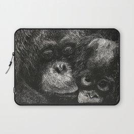 Orangutan Mother and Baby Scratchboard Laptop Sleeve