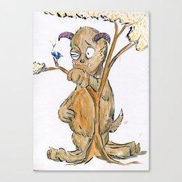 Big Shy Monster Canvas Print