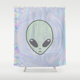 Alien Pastel Shower Curtain