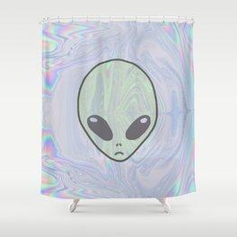 Alien Pastel Shower Curtain