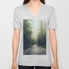 Redwood Forest Adventure - Nature Photography Unisex V-Neck