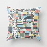 portland Throw Pillows featuring Portland. by Studio Tesouro