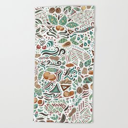 Nuts And Nature Beach Towel