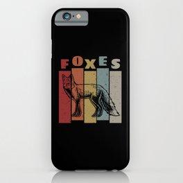 Retro Fox iPhone Case