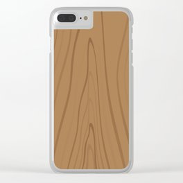 Natural Wood Pattern Clear iPhone Case