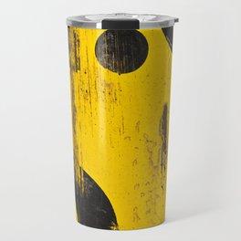 black numbers on yellow background Travel Mug