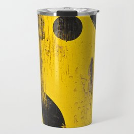 black numbers on yellow background Travel Mug
