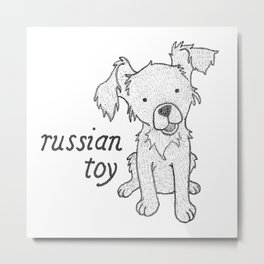 Dog Breeds: Russian Short Haired Terrier Metal Print