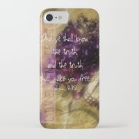 bible verse iPhone & iPod Cases featuring Truth - Verse by Anita Faye