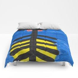 Fish bone watercolor Comforters