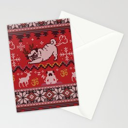 Pugly Yoga X-Mas Stationery Cards