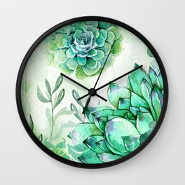 Irish Mint Garden Wall Clock