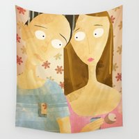 lovers Wall Tapestries featuring Lovers by gazonula