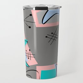 Atomic Era Inspired Boomerangs Travel Mug