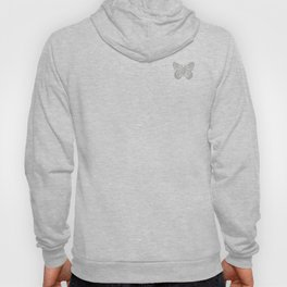 Cute Silver Grey Butterfly Hoody