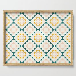Colorful tribal geometric pattern Serving Tray