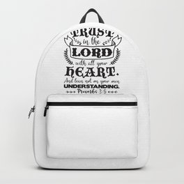 Proverbs 3:5 Backpack