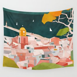 south france coast landscape Wall Tapestry