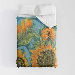 Birthday Sunflowers Comforters