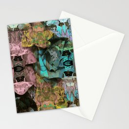 Surreal Floral Intricate Visionary Print Stationery Cards