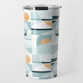 Del Mar Modern Abstract Geometric Pattern Travel Mug