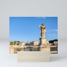 Angel with the Crown of Thorns at the Sant'Angelo bridge - Rome, Italy Mini Art Print