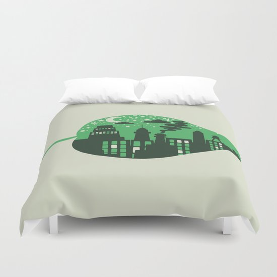 Let's Leave This Place Duvet Cover