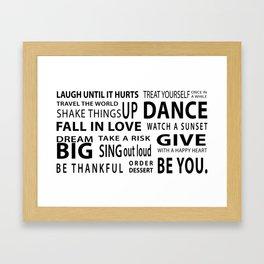 Inspiring Words Framed Art Print